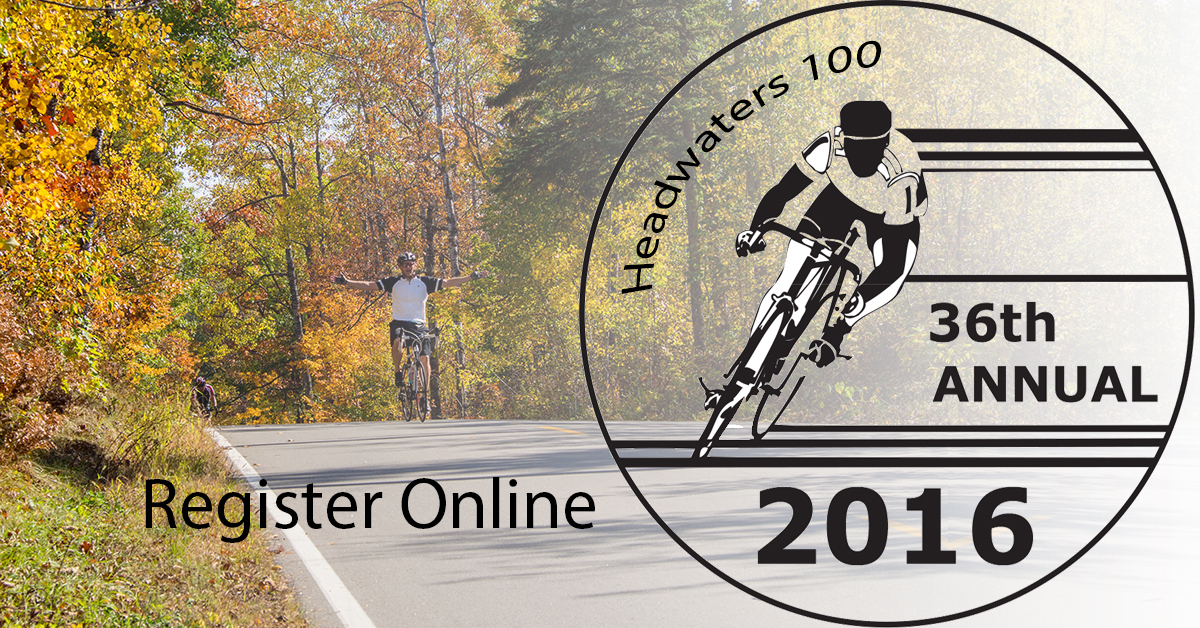 Register online for the Headwaters 100 Bike Ride
