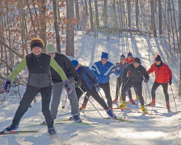 Skiing Soaring Eagle trails